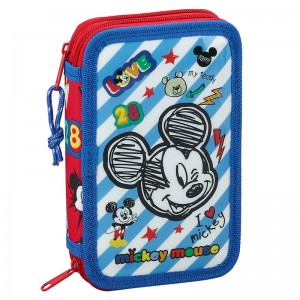Plumier doble pequeño Mickey marks